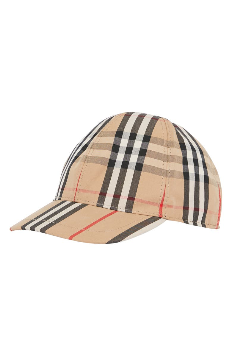 BURBERRY Mixed Print Baseball Cap, Main, color, ARCHIVE BEIGE  CHK