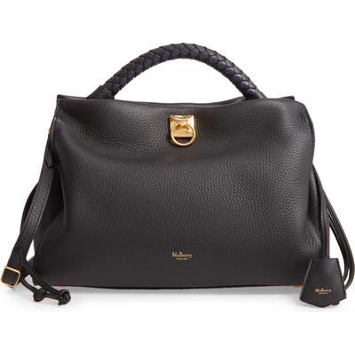 Mulberry Iris Leather Top Handle Bag - Black