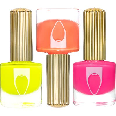 Floss Gloss Neon Drip Trip Set Of 3 Nail Lacquers - Maliboob/ Hilite/ Bikini Coral
