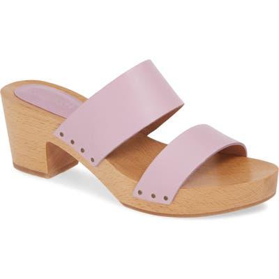 Madewell The Clara Clog Sandal, Purple