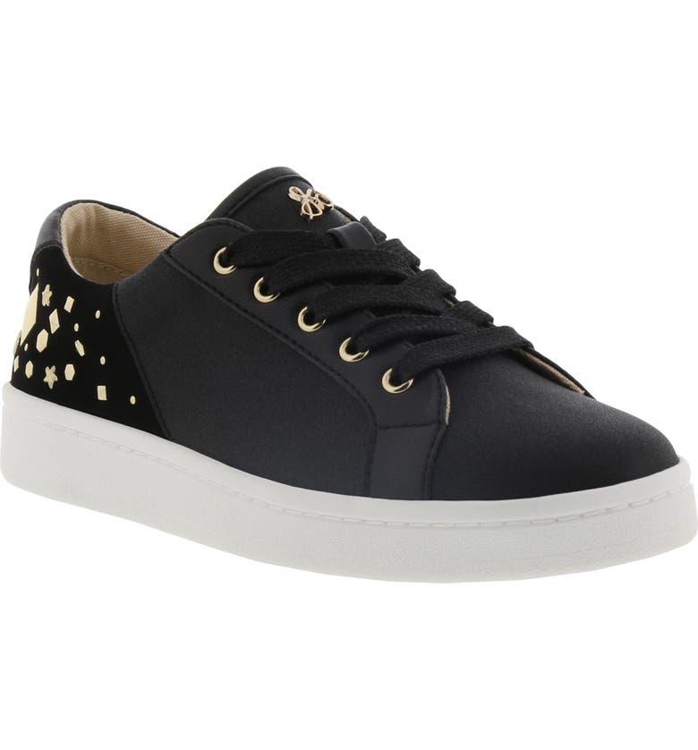 SAM EDELMAN Blane Embellished Sneaker, Main, color, BLACK