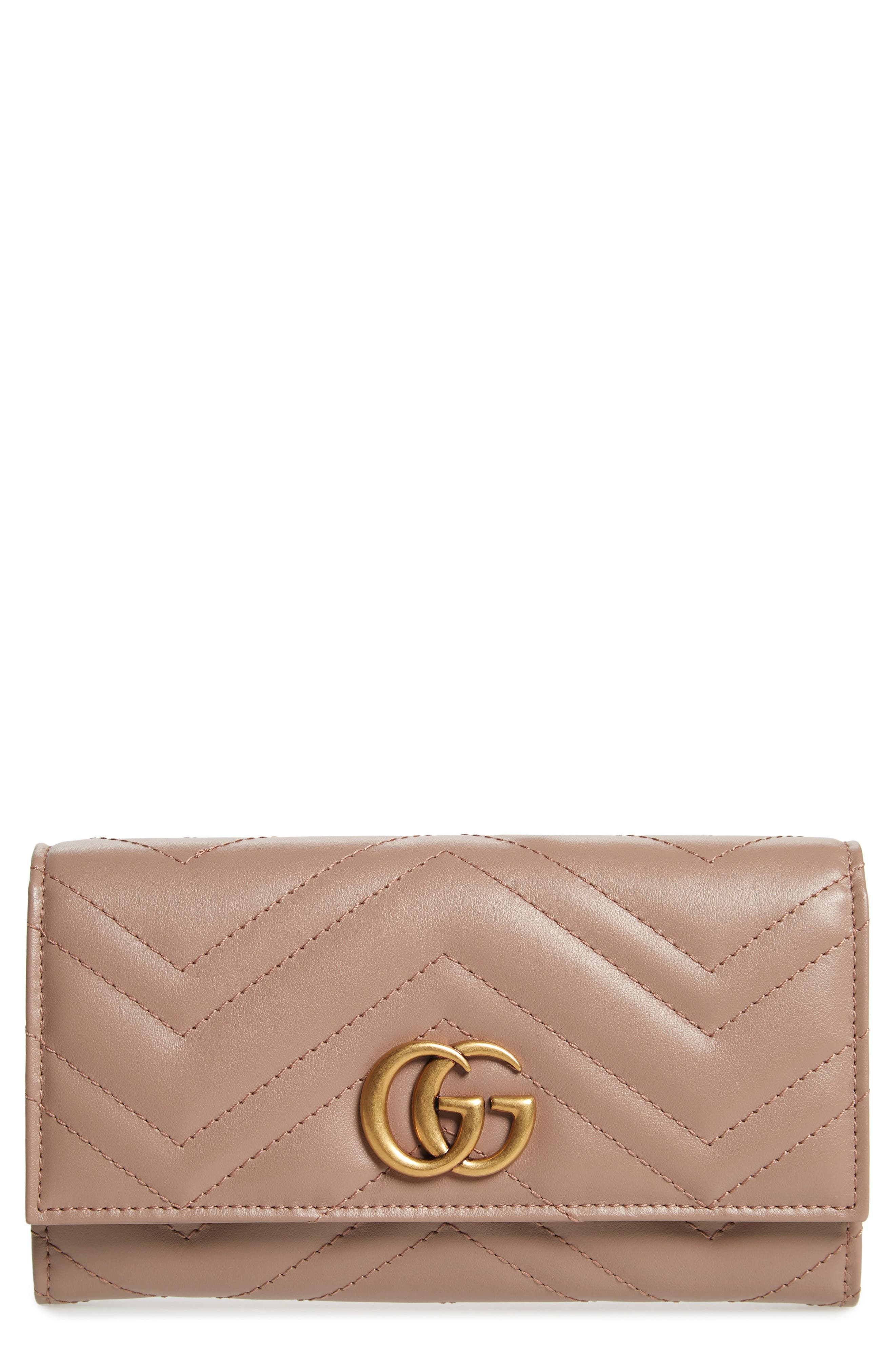 Gucci GG Matelassé Leather Continental Wallet | Nordstrom