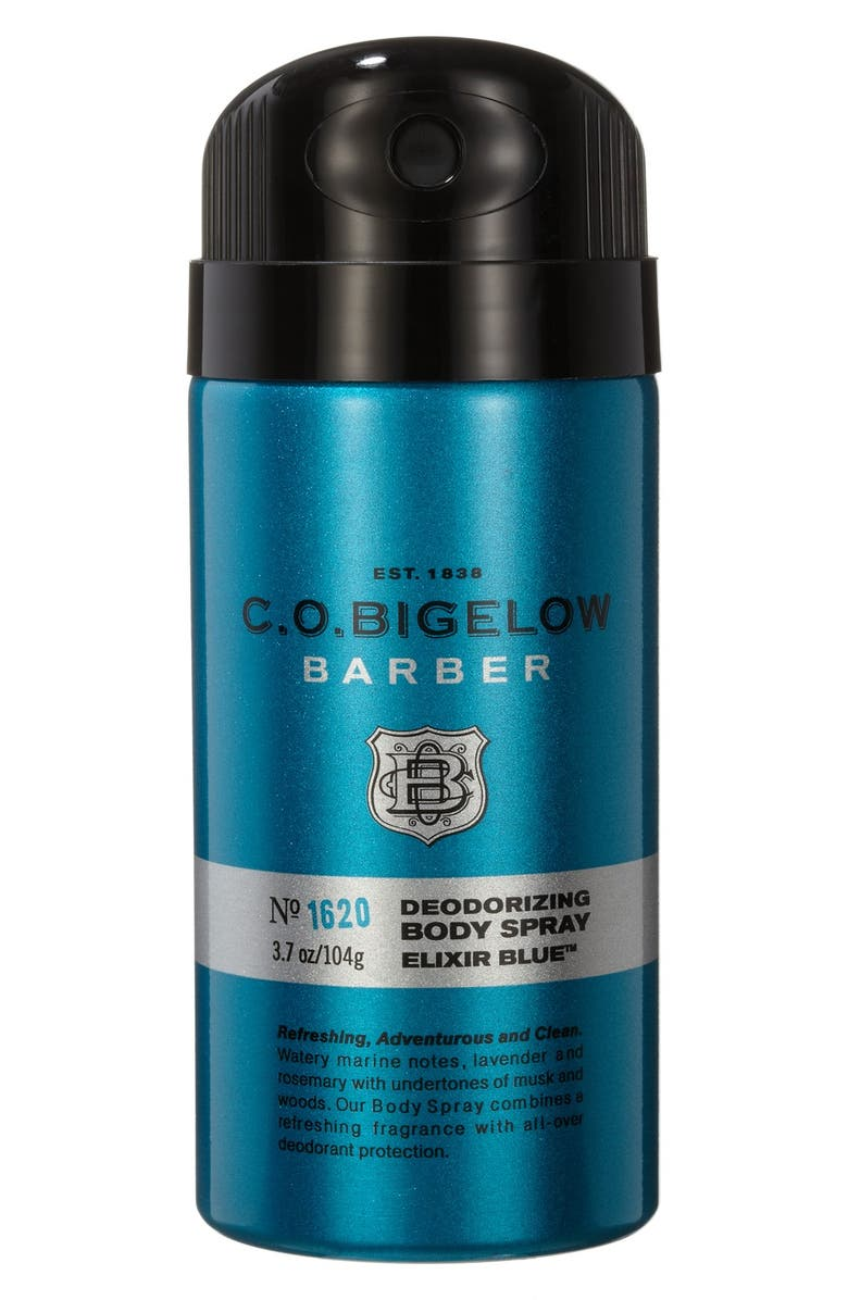 C.O. BIGELOW <sup>®</sup> 'Barber - Elixir Blue' Body Spray, Main, color, 400