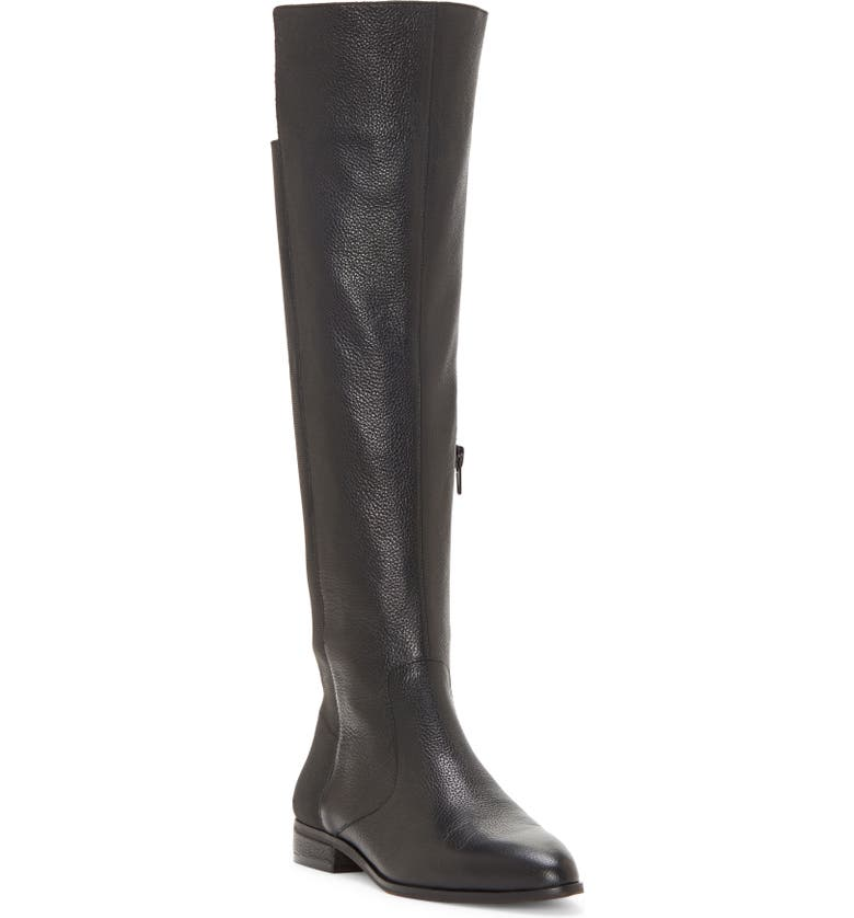 ENZO ANGIOLINI Marala High/Low Boot, Main, color, BLACK LEATHER