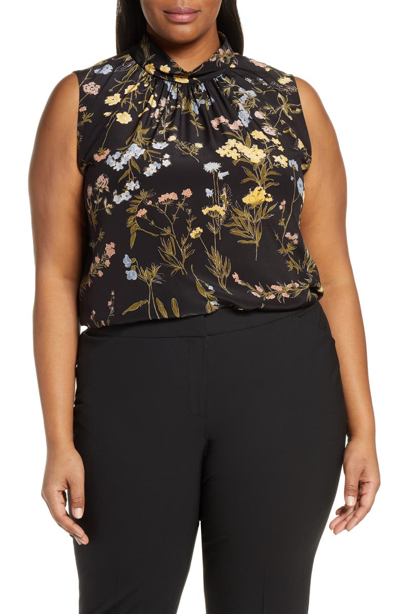 LAFAYETTE 148 NEW YORK Jem Floral Silk Blouse, Main, color, 001