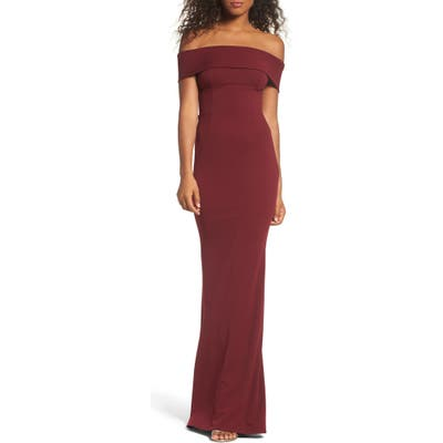 Katie May Legacy Crepe Body-Con Gown, Red