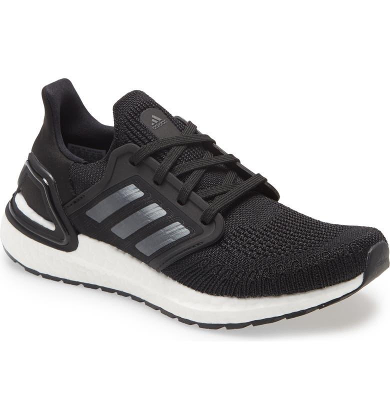 ADIDAS UltraBoost 20 Running Shoe, Main, color, BLACK/ NIGHT METALLIC/ WHITE