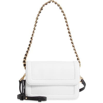 The Marc Jacobs The Mini Cushion Leather Shoulder Bag - White