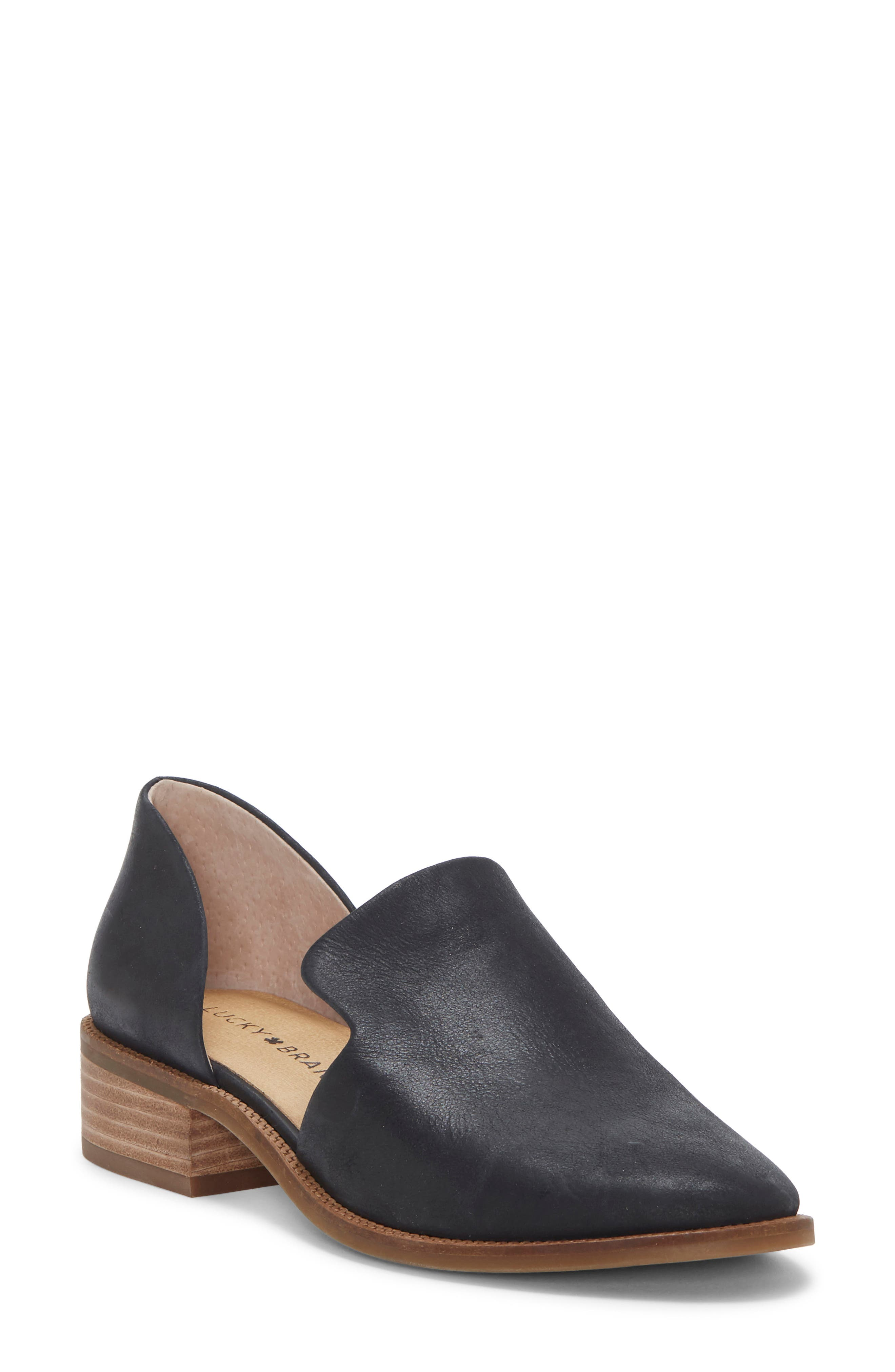 Image of Lucky Brand Gennifa Cutout Stacked Heel Loafer