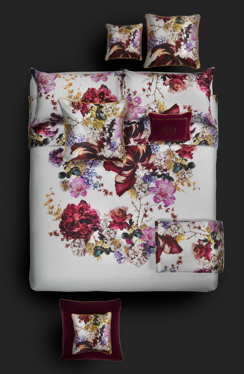 ROBERTO CAVALLI Floris Duvet Cover, Main, color, PINK MULTI