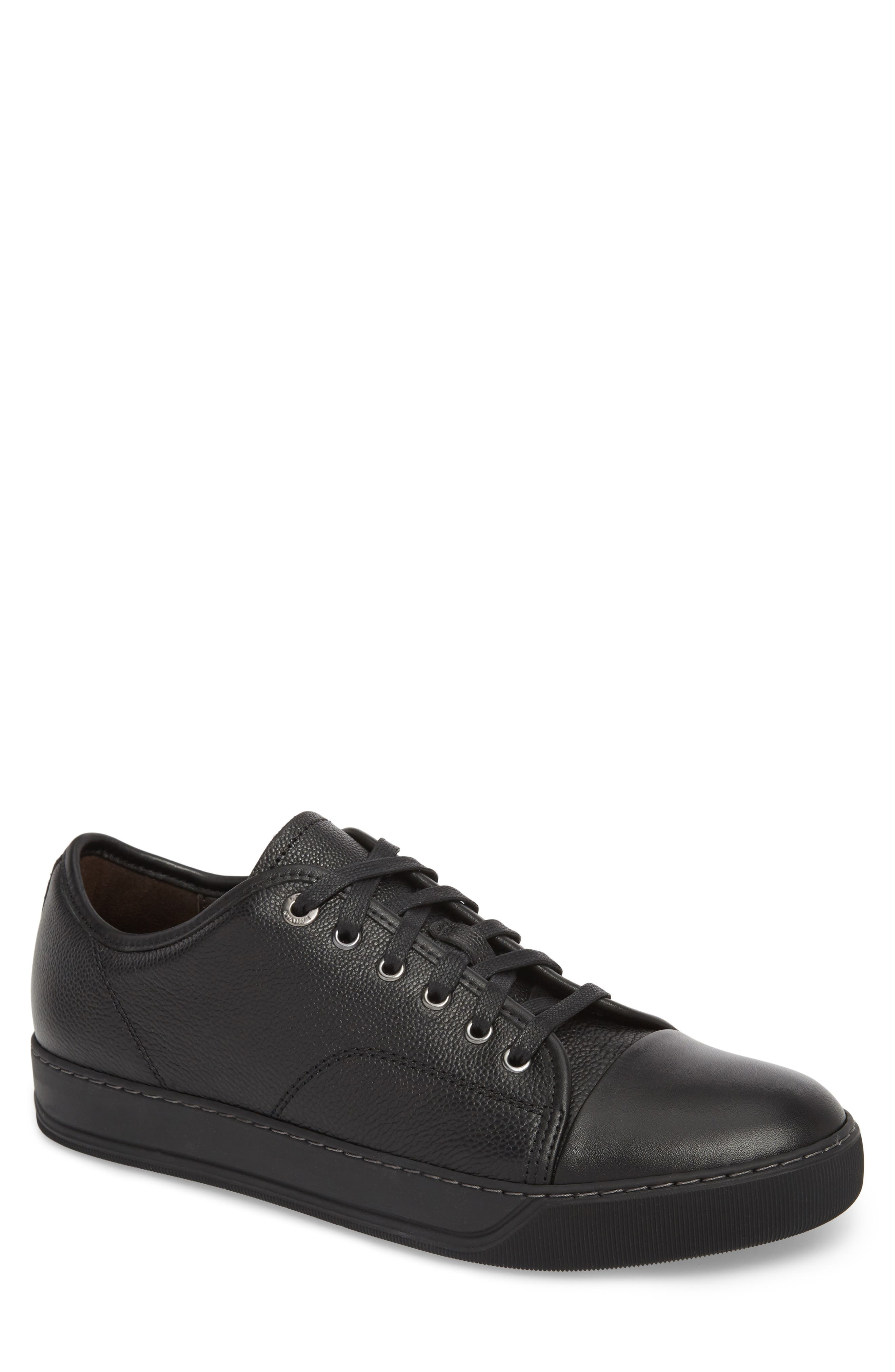 Shiny Cap Toe Sneaker, Main, color, 001