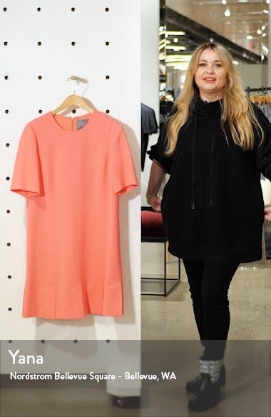 Seamed Stretch Wool Blend Minidress, sales video thumbnail