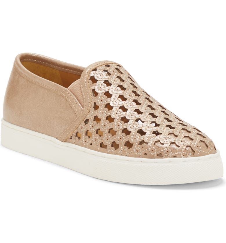 VINCE CAMUTO Double Gore Slip-On Sneaker, Main, color, HOT SAND