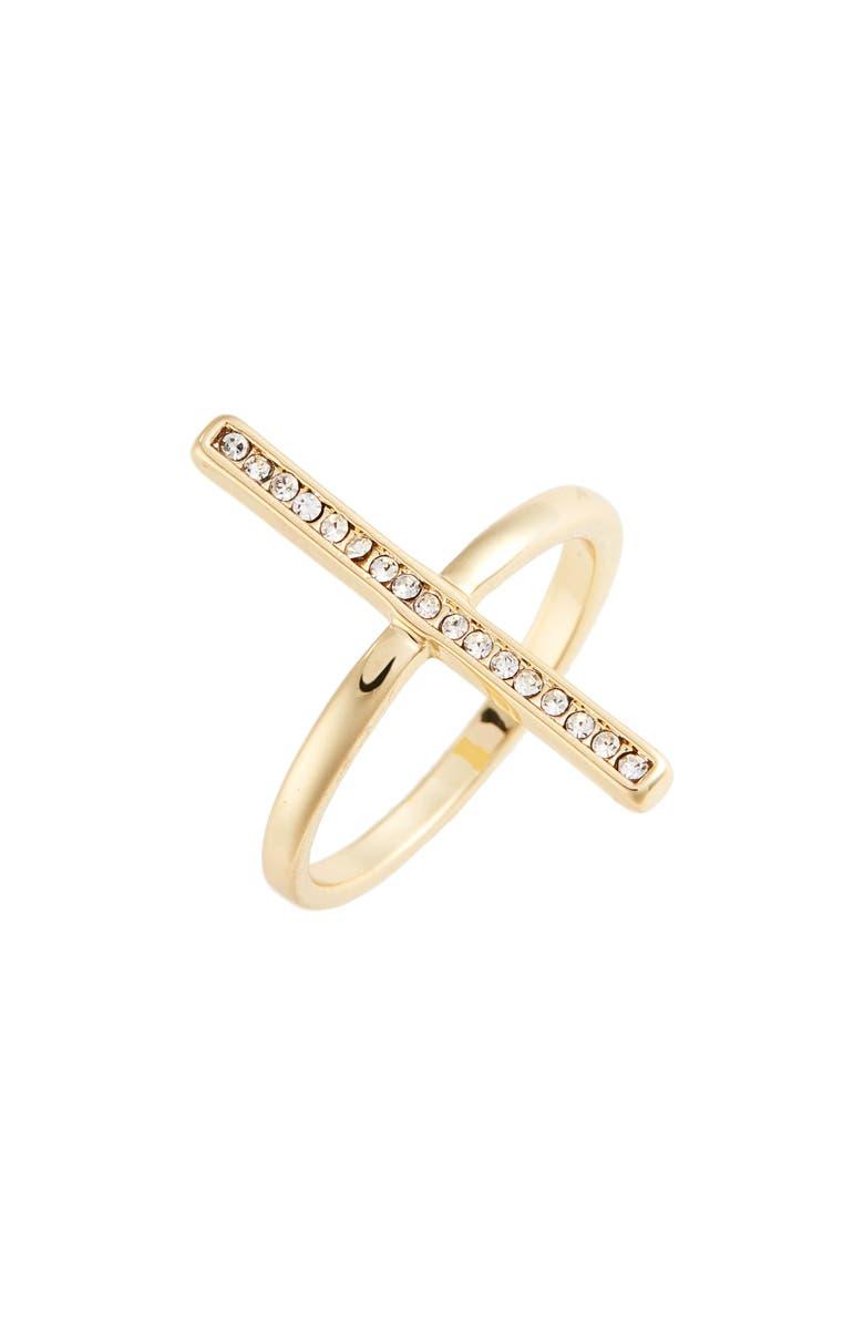 UNCOMMON JAMES BY KRISTIN CAVALLARI Cross Me Ring, Main, color, 710