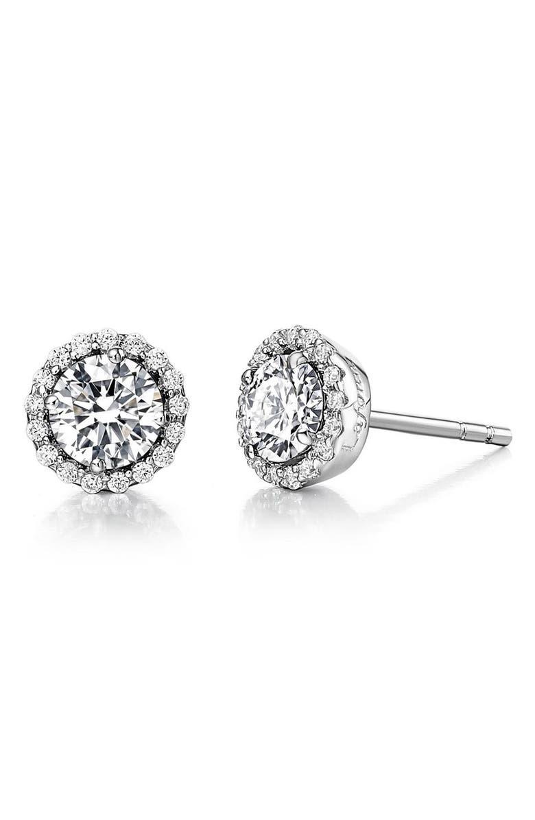 LAFONN Birthstone Stud Earrings, Main, color, APRIL DIAMOND / SILVER