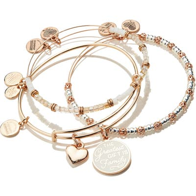 Alex And Ani Words Are Powerful The Greatest Gift Set Of 3 Bangles