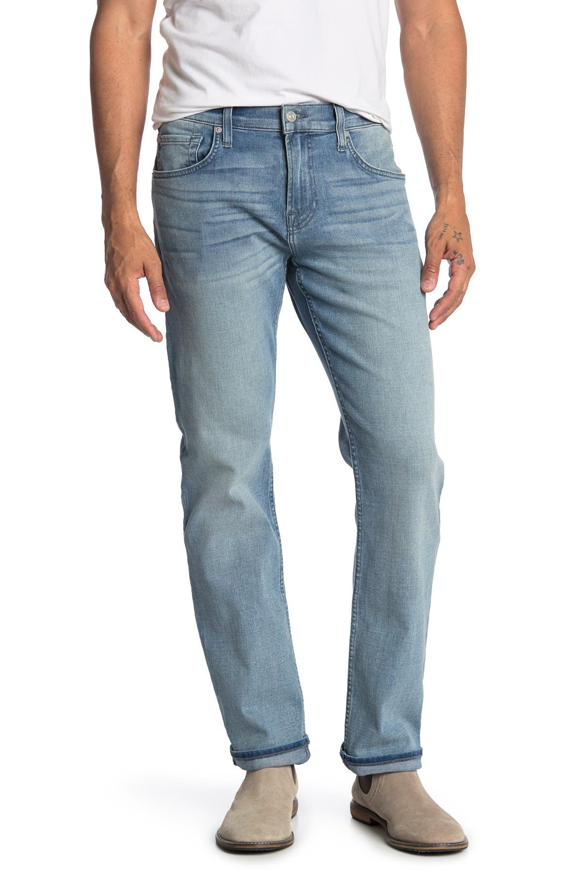 Image of 7 For All Mankind Straight Leg Jeans