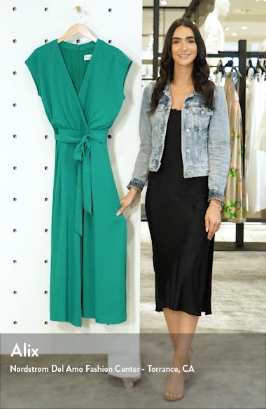 Faux Wrap Crop Jumpsuit, sales video thumbnail