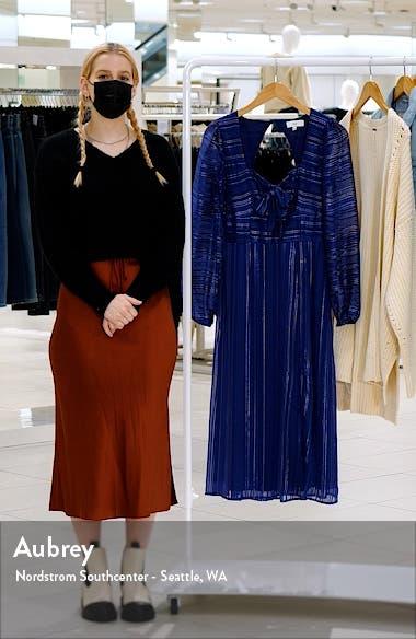 Honore Metallic Thread Long Sleeve Midi Dress, sales video thumbnail