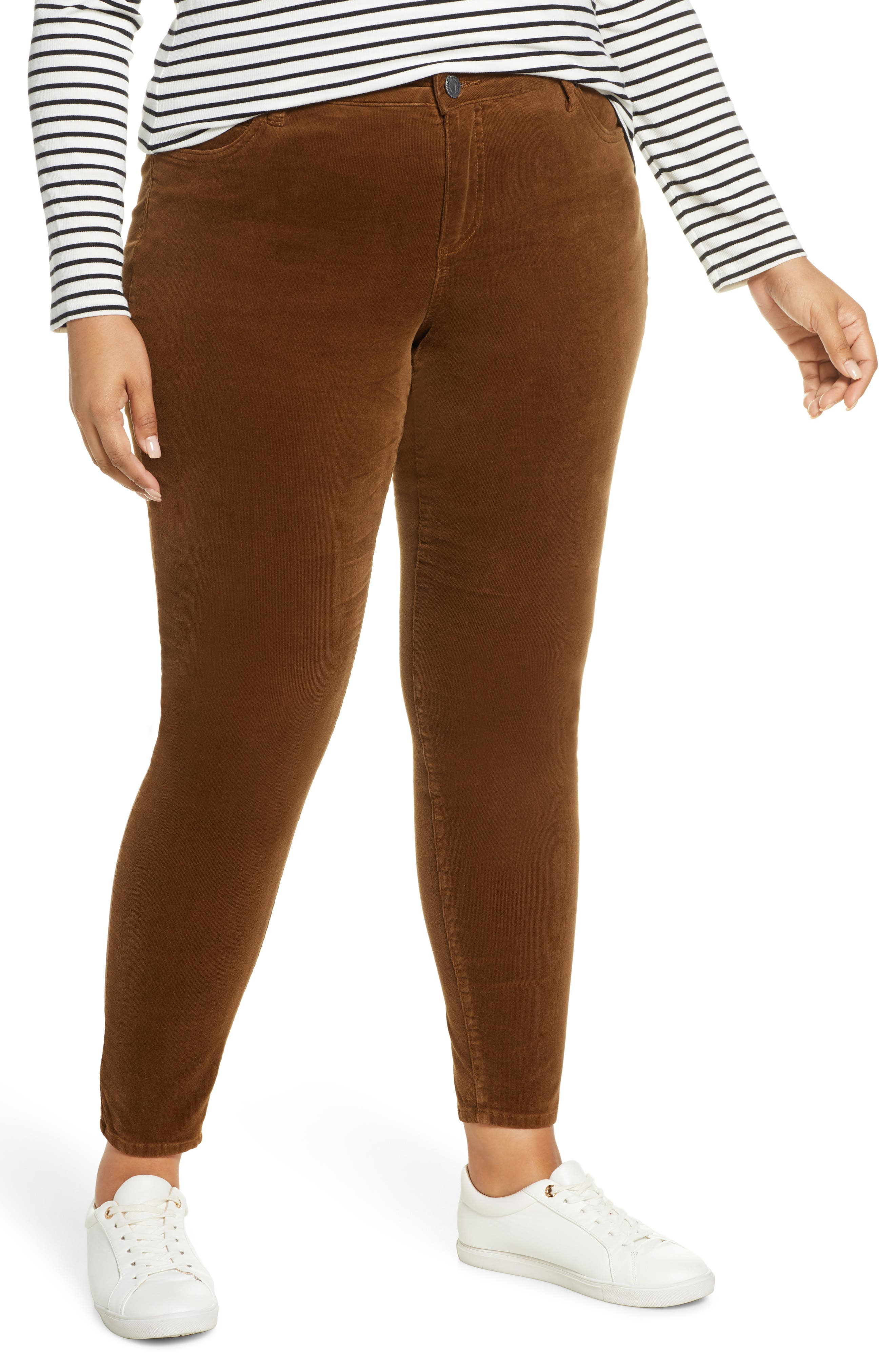 Season-ready cords are designed with a flattering high waist and slimming straight legs. Style Name: Kut From The Kloth Diana Cord Skinny Jeans (Plus Size). Style Number: 5881999. Available in stores.
