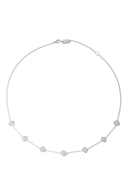Ippolita STARDUST MINI FLOWER DISC FRONTAL NECKLACE WITH DIAMONDS