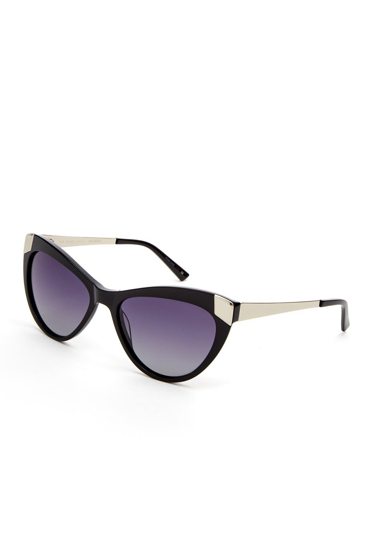 Image of Ted Baker London 54mm Plastic Round Cat Eye Sunglasses