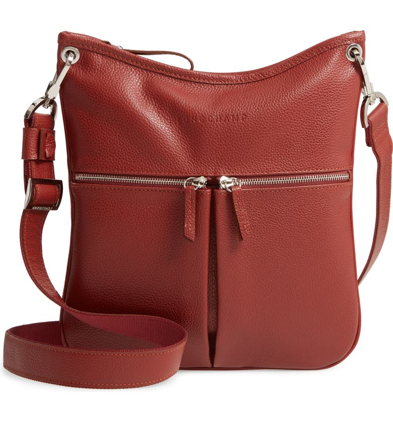 Longchamp Veau Leather Crossbody Bag