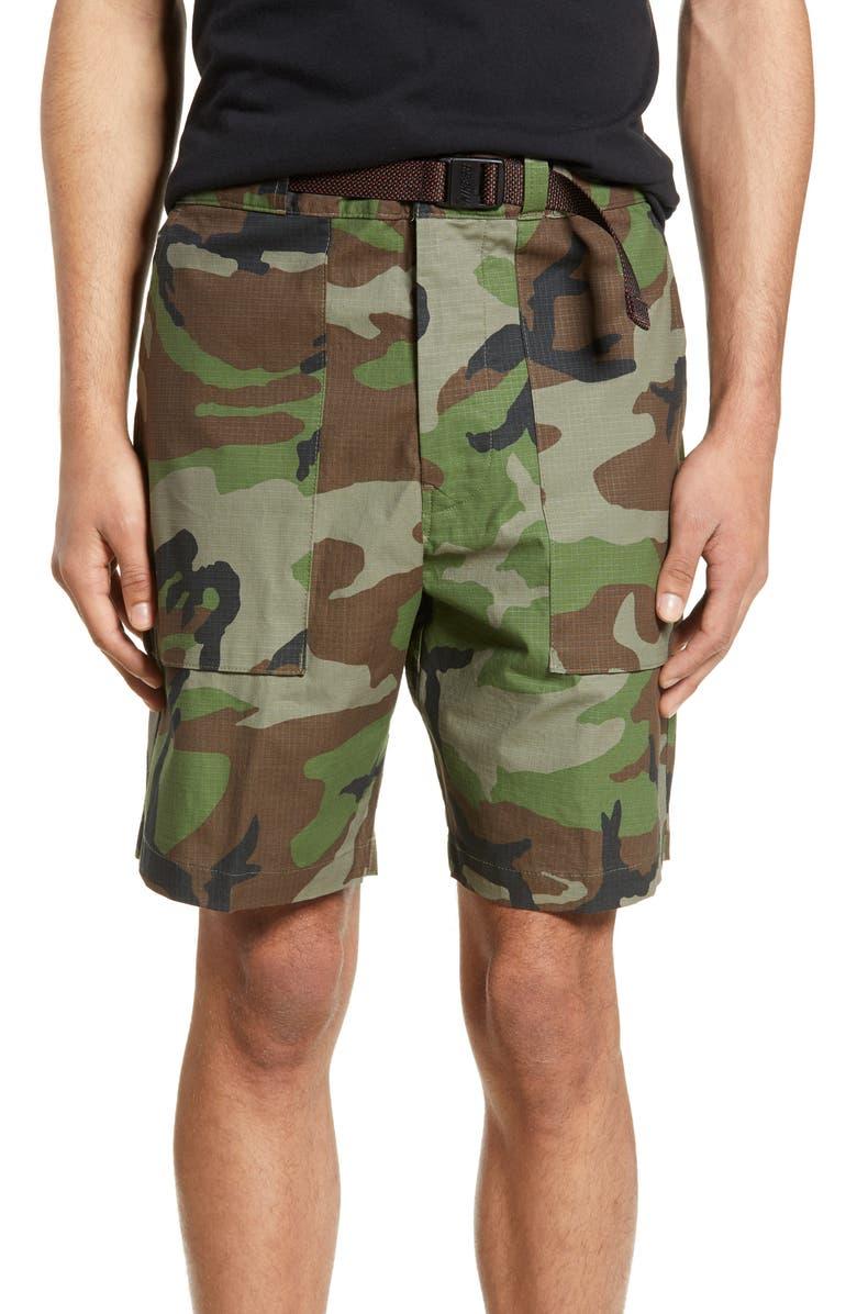 NIKE SB Camo Ripstop Shorts, Main, color, MEDIUM OLIVE