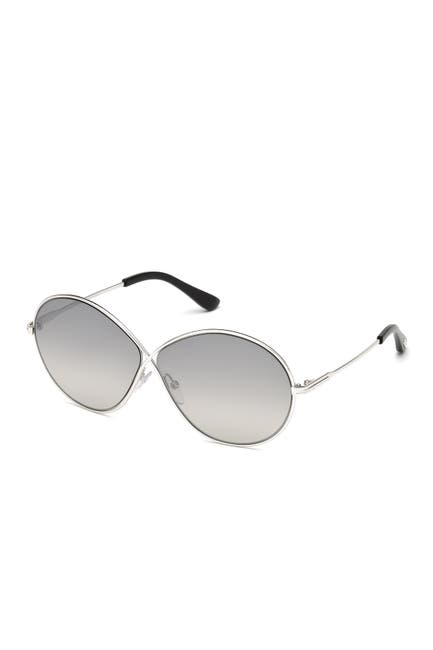 Image of Tom Ford Rania 64mm Oversize Round Sunglasses