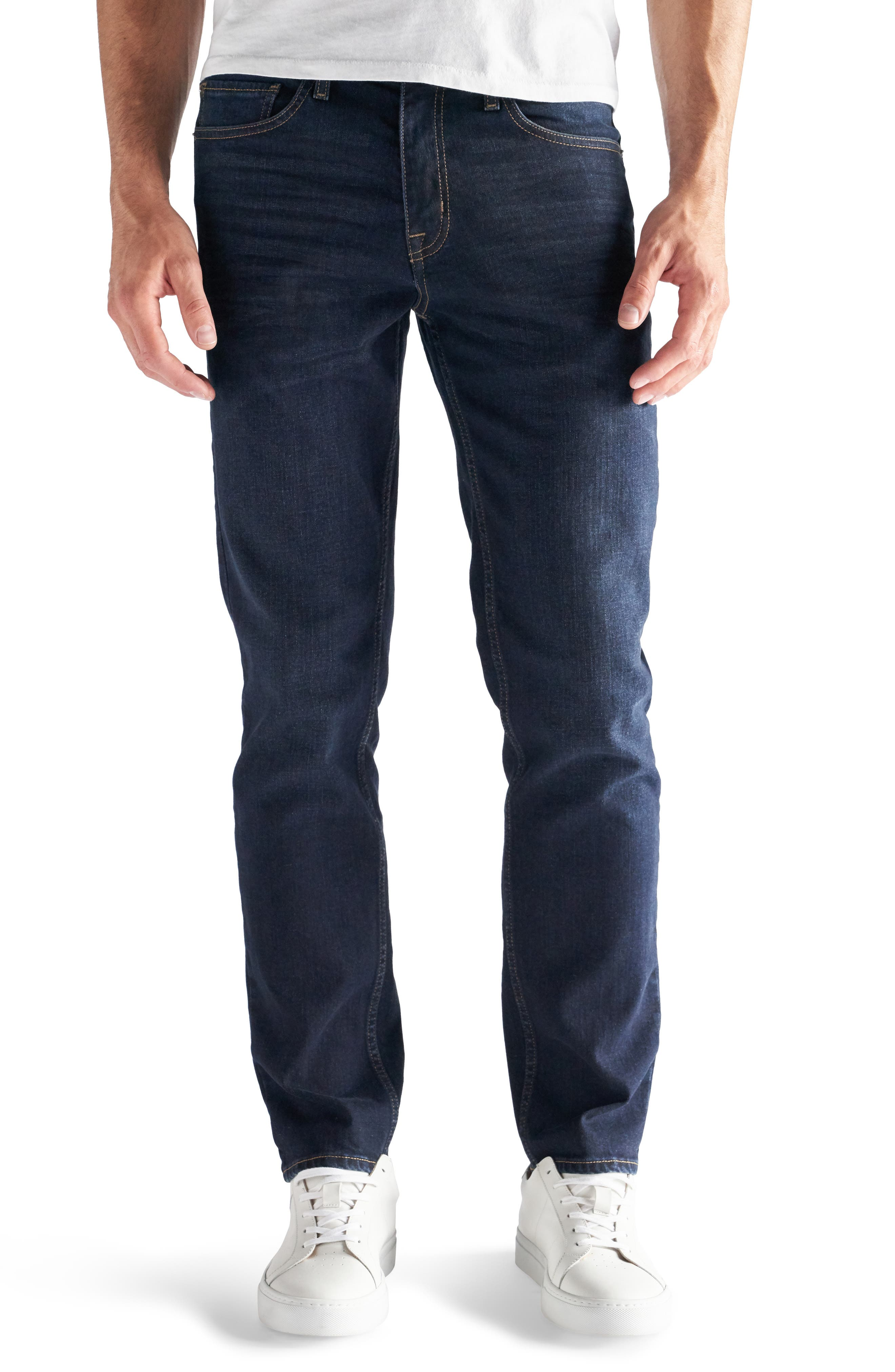 Slim-Straight Fit Performance Stretch Jeans