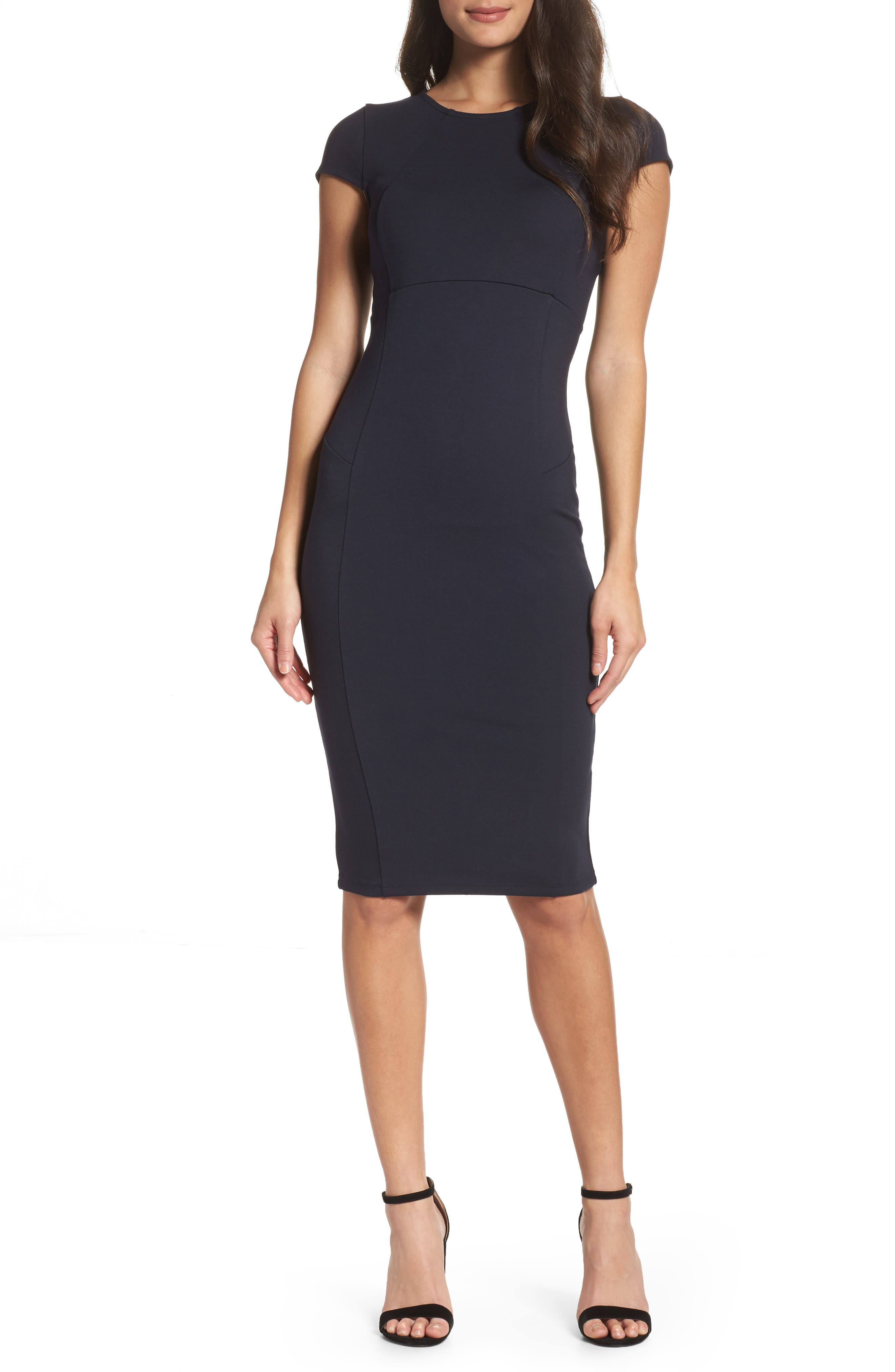 ,                             Ward Seamed Pencil Dress,                             Main thumbnail 10, color,                             400