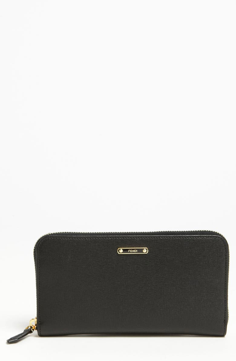 FENDI 'Crayons' Leather Wallet, Main, color, 002