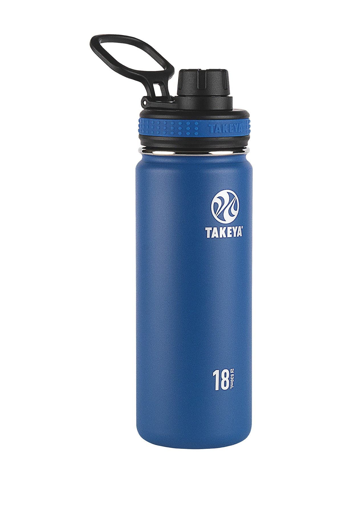 Image of Takeya Navy Originals Insulated Spout Lid 18oz. Stainless Steel Bottle