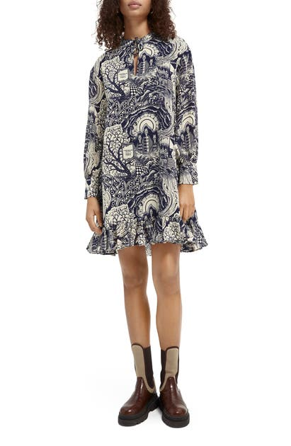Scotch & Soda STORYTELLING LONG SLEEVE DRESS
