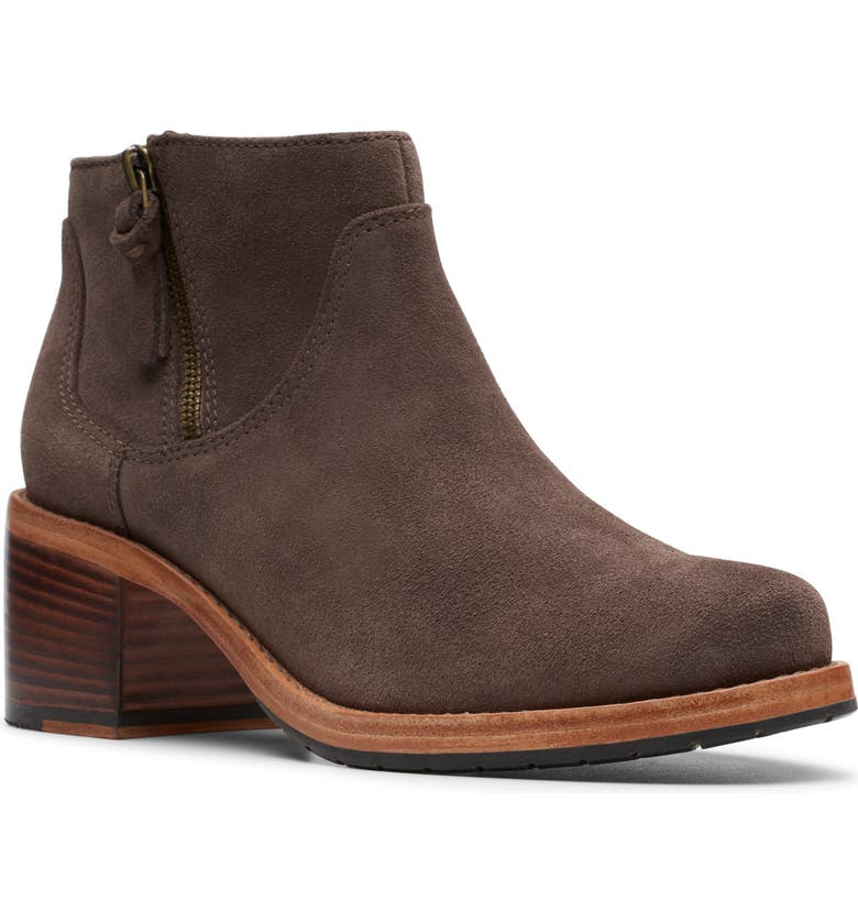 CLARKS<SUP>®</SUP> Clarkdale Dawn Bootie, Main, color, TAUPE SUEDE