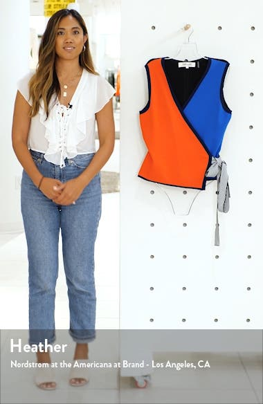 Kandy Colorblock Wrap Top, sales video thumbnail