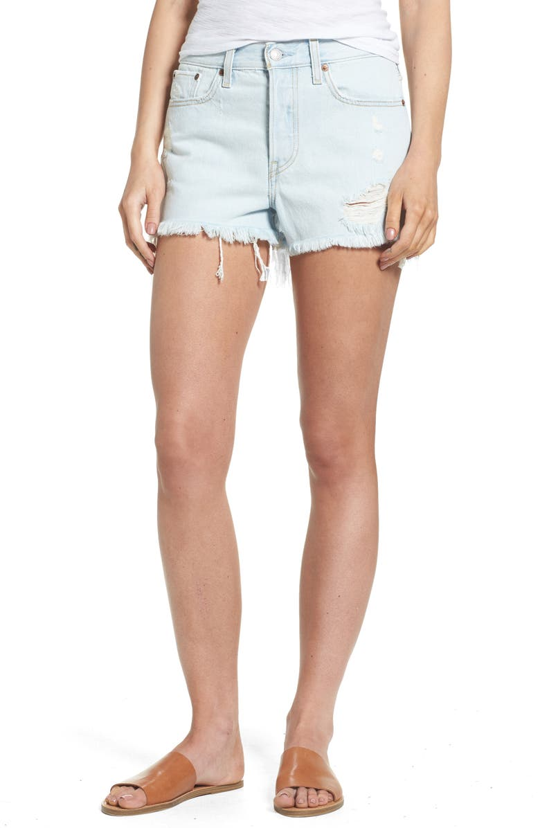 LEVI'S<SUP>®</SUP> Wedgie High Waist Denim Shorts, Main, color, 420
