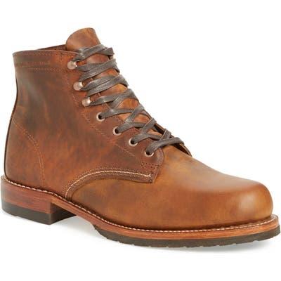 Wolverine Evans Plain Toe Boot, Brown