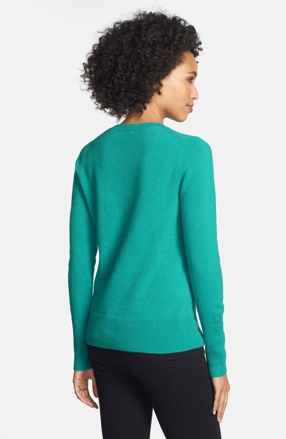 ,                             Cashmere V-Neck Sweater,                             Alternate thumbnail 45, color,                             440