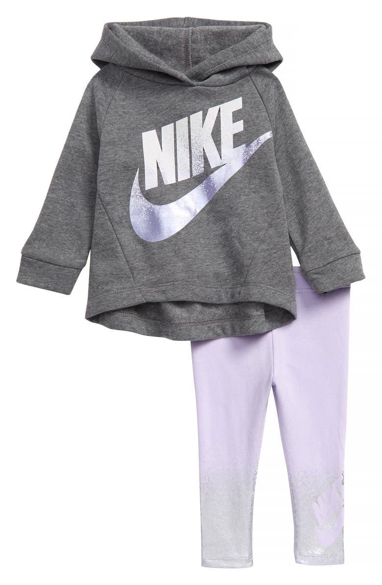 NIKE Shine Hooded Sweatshirt & Leggings Set, Main, color, 531