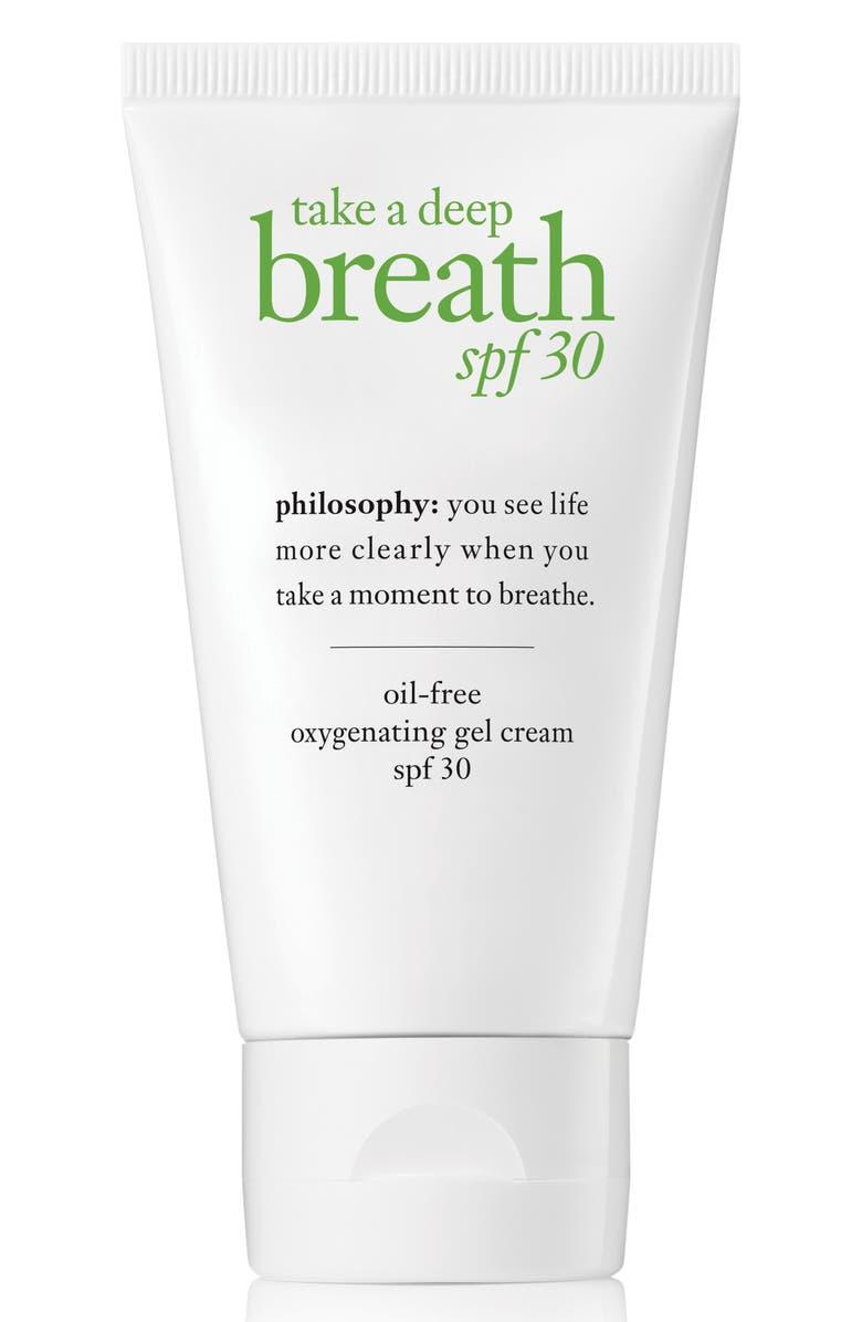PHILOSOPHY take a deep breath oil-free oxygenating gel cream SPF 30, Main, color, NO COLOR