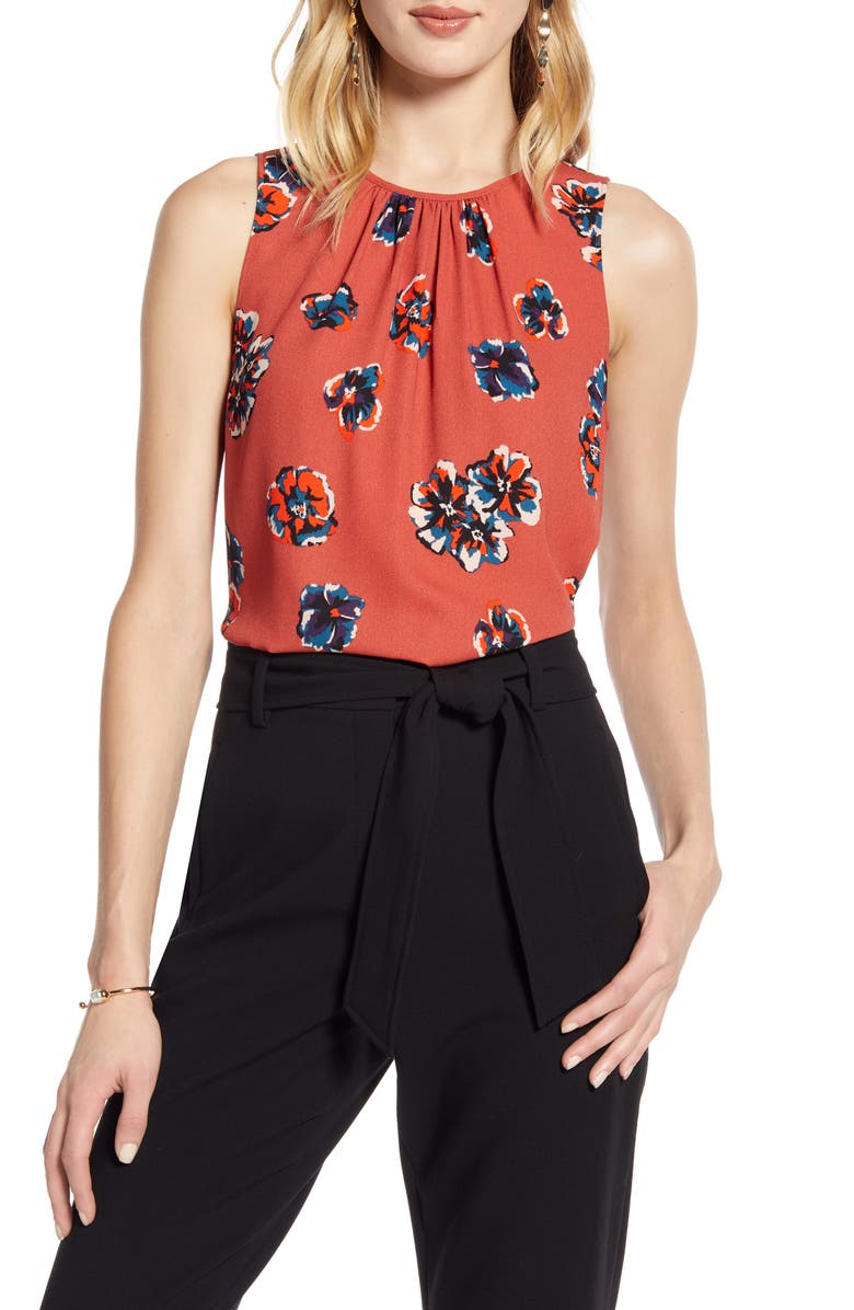 HALOGEN<SUP>®</SUP> Print Sleeveless Top, Main, color, 200
