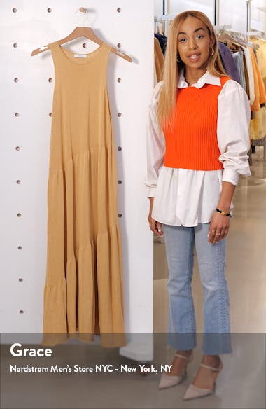 Tiered Tank Midi Sweater Dress, sales video thumbnail