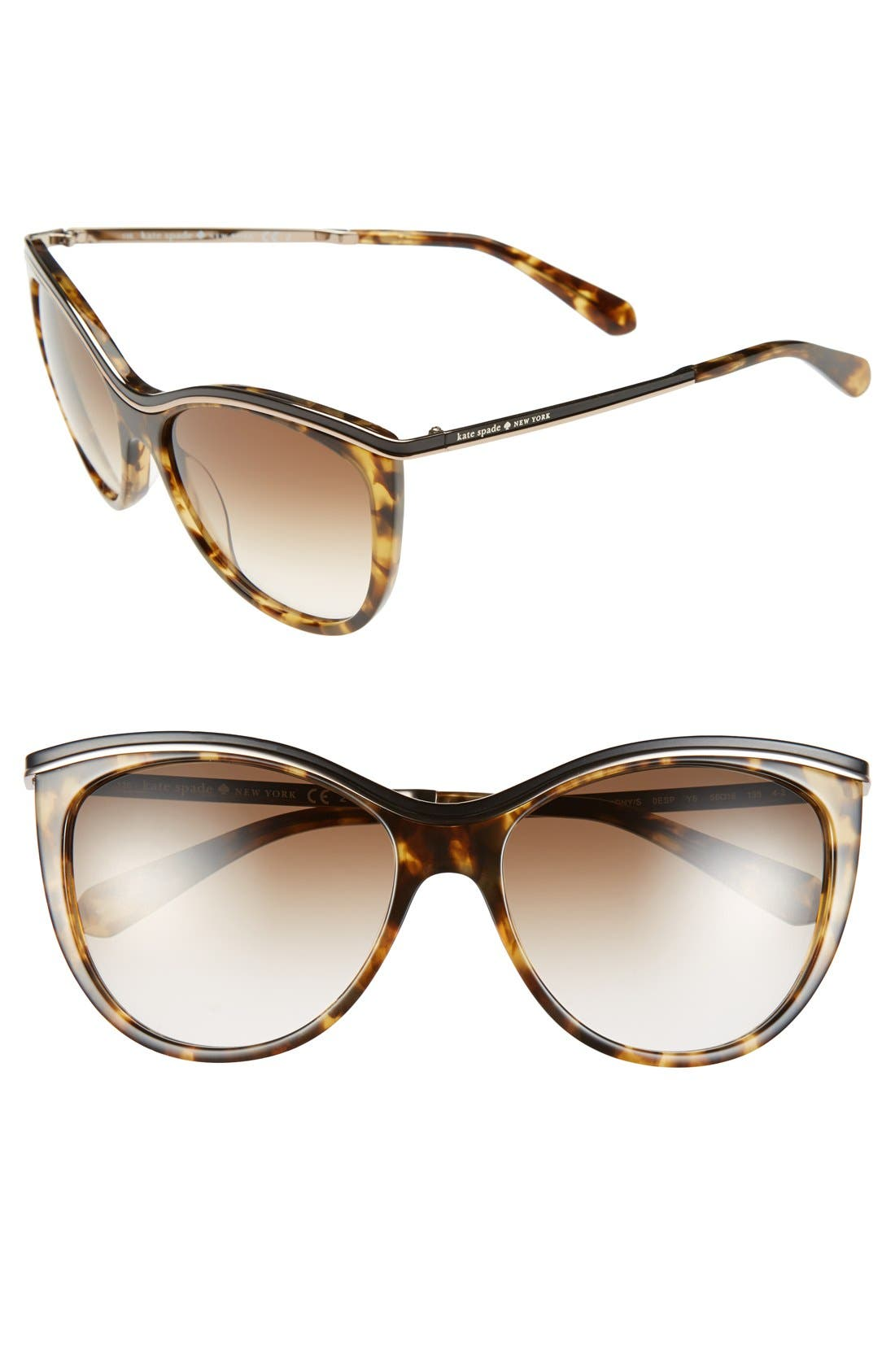 ,                             56mm cat eye sunglasses,                             Main thumbnail 3, color,                             200