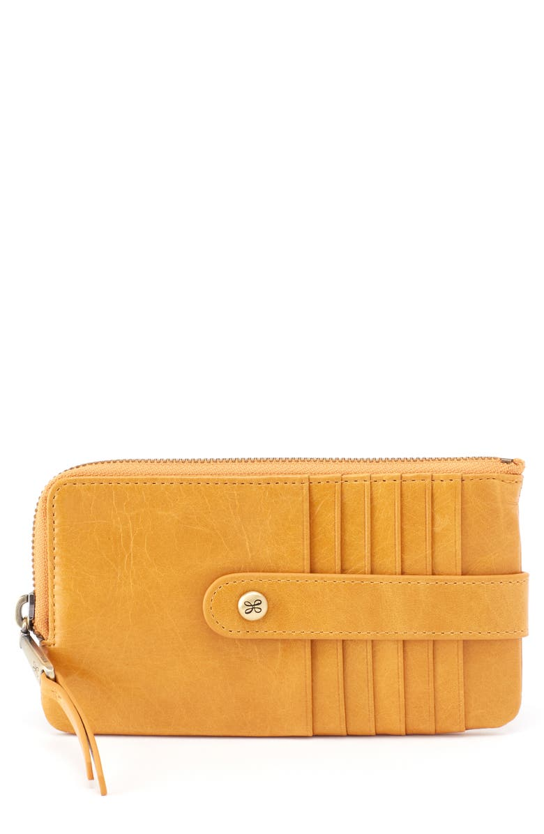 HOBO Flash Calfskin Leather Card Case, Main, color, 700