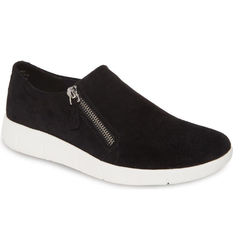 JOHNSTON & MURPHY Tracy Platform Sneaker, Main, color, BLACK SNAKE PRINT SUEDE