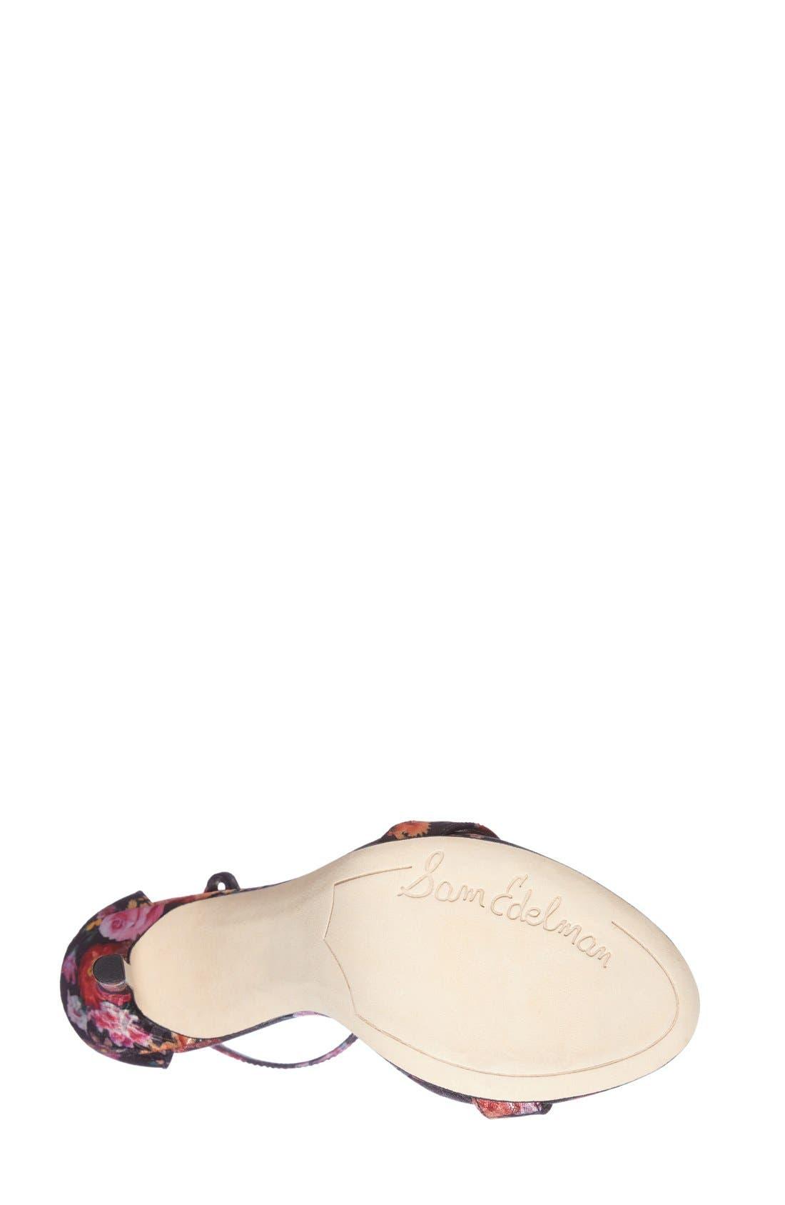 ,                             'Eleanor' Ankle Strap Sandal,                             Alternate thumbnail 45, color,                             009