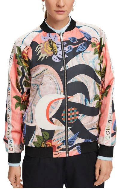 Scotch & Soda REVERSIBLE PRINT BOMBER JACKET
