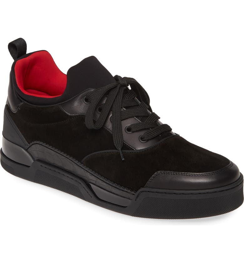 CHRISTIAN LOUBOUTIN Aurelien Urban Sneaker, Main, color, BLACK
