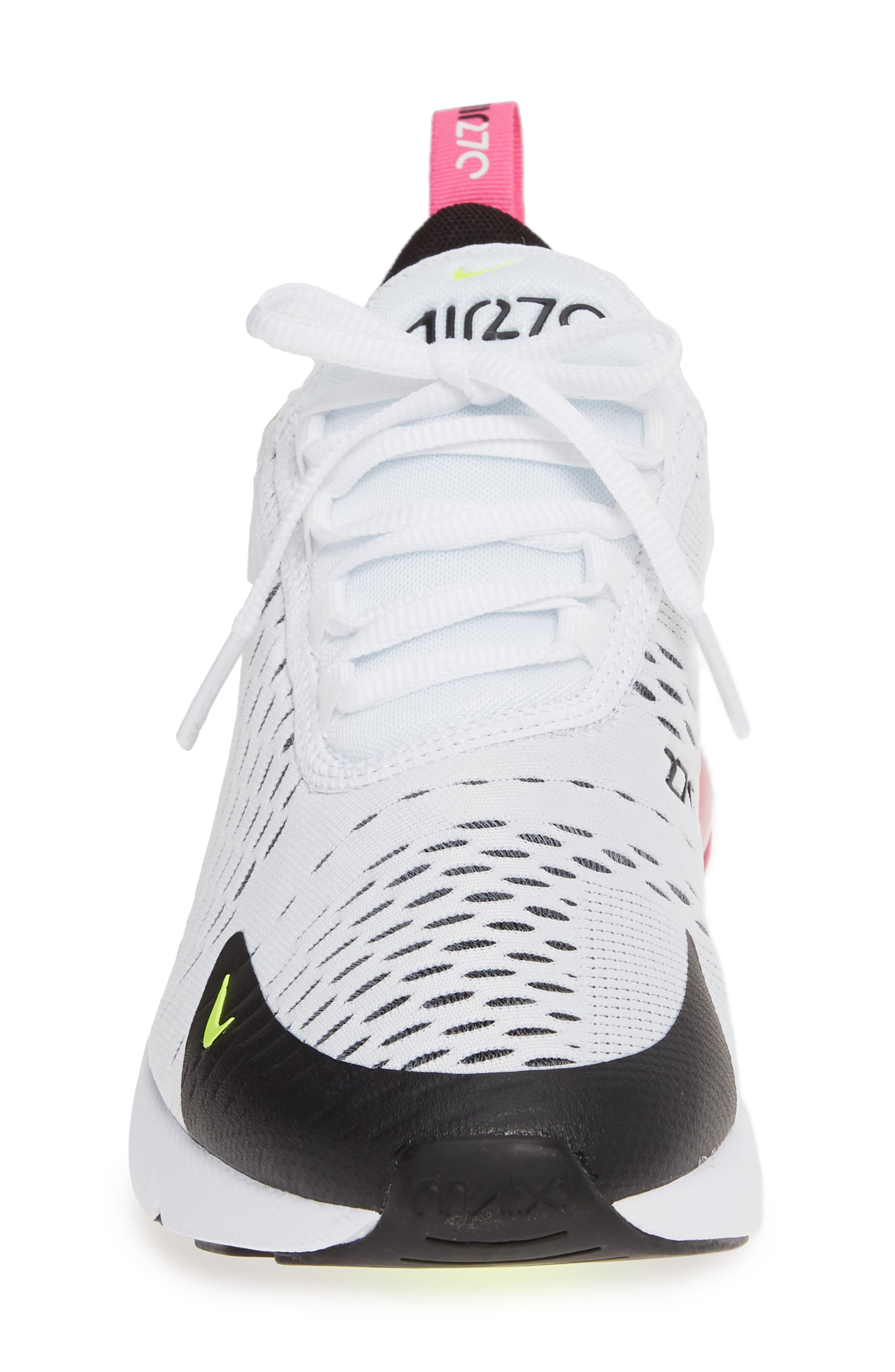 ,                             Air Max 270 Sneaker,                             Alternate thumbnail 4, color,                             WHITE/ VOLT-BLACK-FUCHSIA